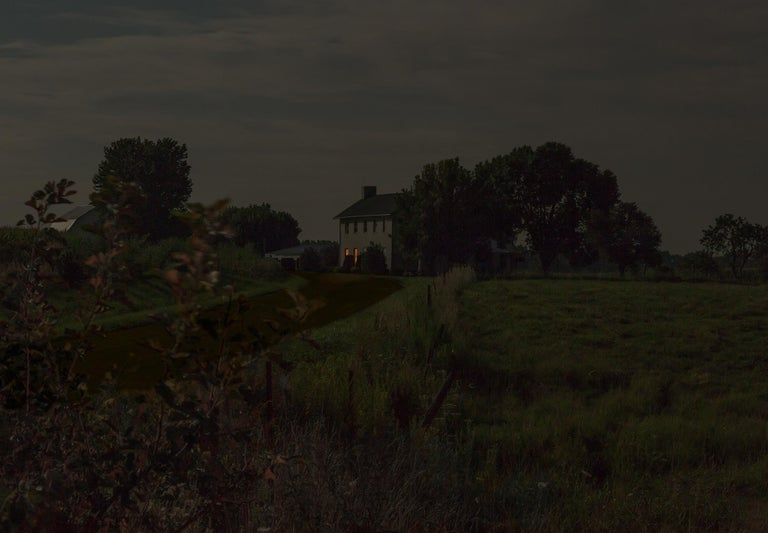 Jeanine Michna-Bales Landscape Photograph - A Brief Respite. Abolitionist William Beard's house, Union County, Indiana