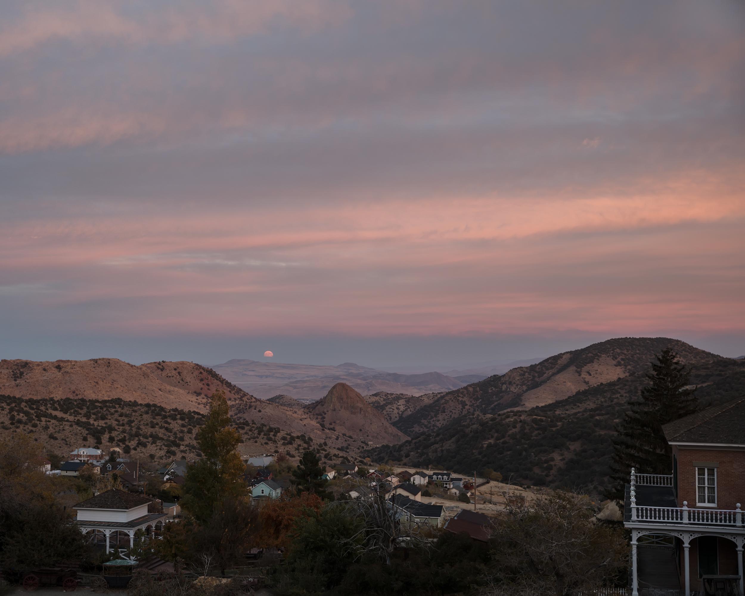 Moonrise, Virginia City, Nevada