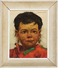 Jeanne Brandsma (1902-1992) - A Pair of Belgian Oils, Portraits of Children