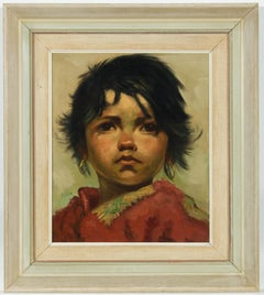 Jeanne Brandsma (1902-1992) - Fine Mid 20th Century Oil, Portrait of a Young Boy