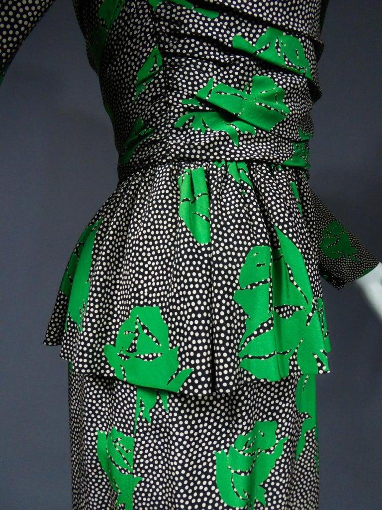 Jeanne Lanvin / Jules-François Grahay Haute Couture Cocktail Dress Circa 1980 For Sale 8