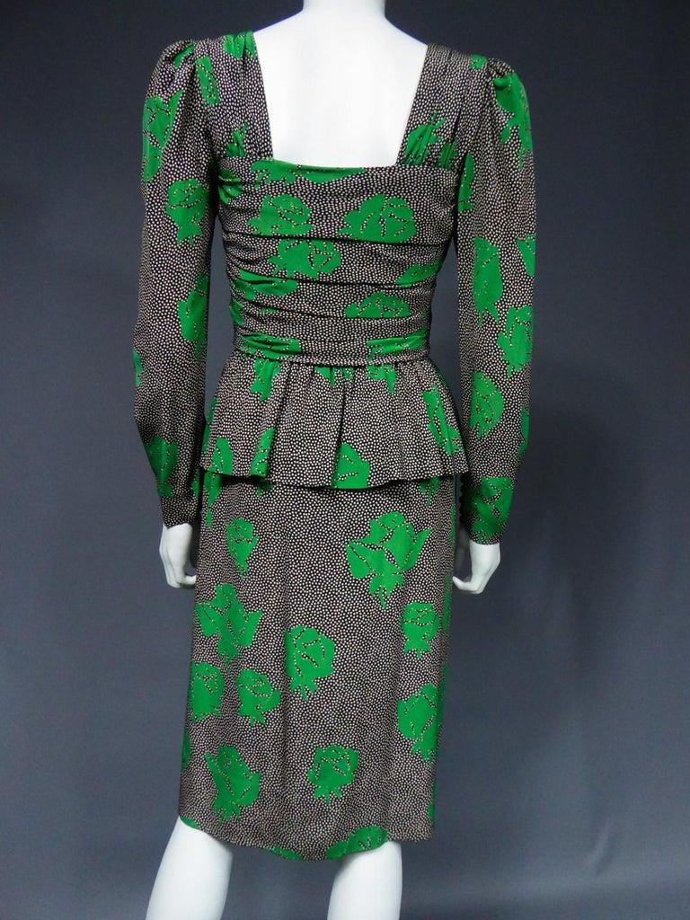 Jeanne Lanvin / Jules-François Grahay Haute Couture Cocktail Dress Circa 1980 For Sale 9