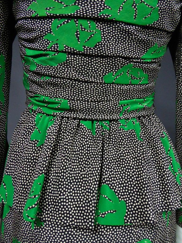 Jeanne Lanvin / Jules-François Grahay Haute Couture Cocktail Dress Circa 1980 For Sale 10