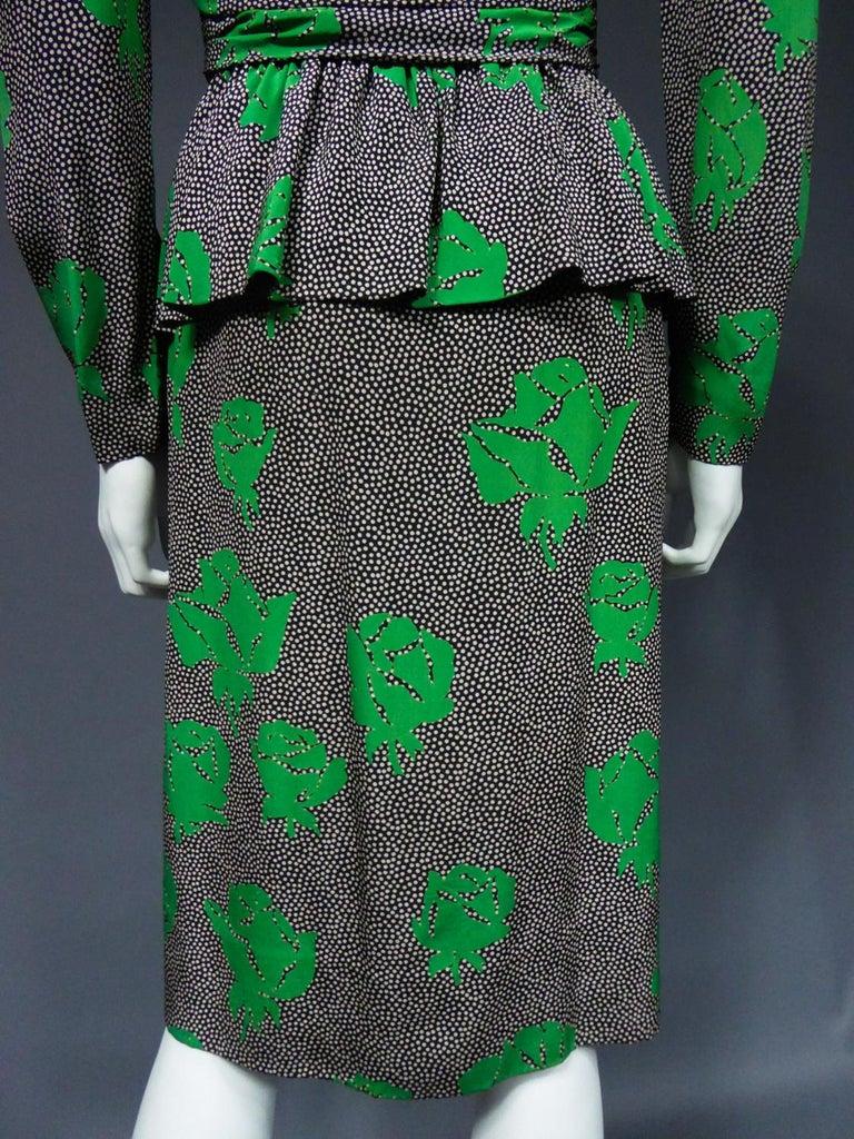 Jeanne Lanvin / Jules-François Grahay Haute Couture Cocktail Dress Circa 1980 For Sale 11