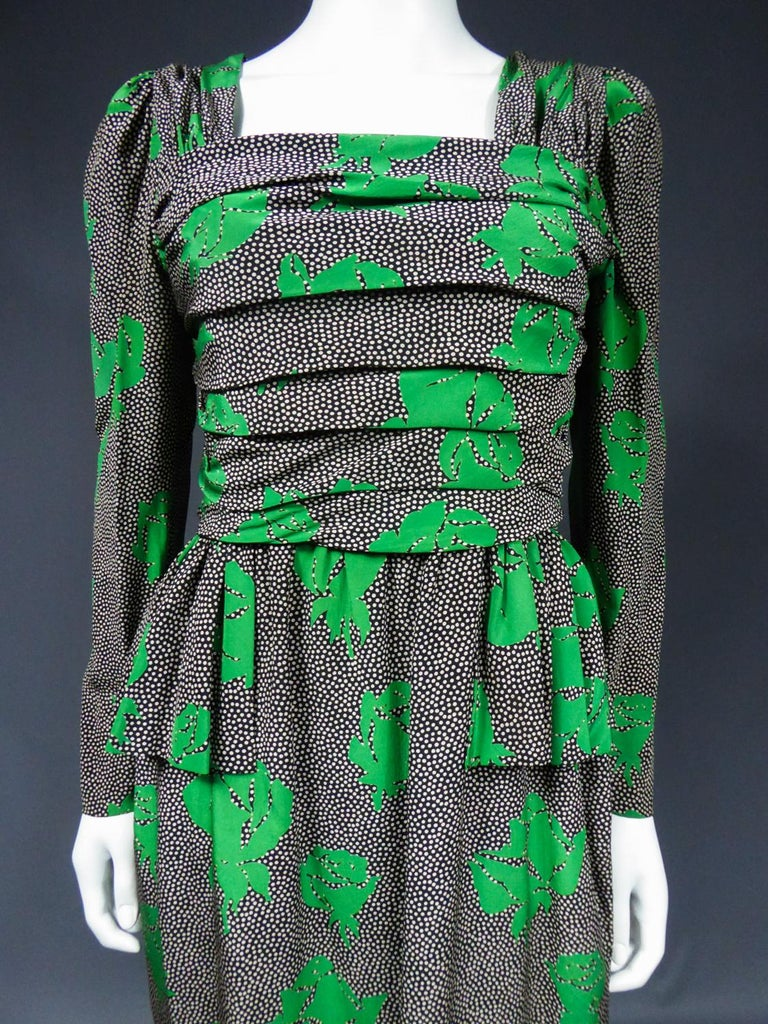 Jeanne Lanvin / Jules-François Grahay Haute Couture Cocktail Dress Circa 1980 For Sale 1