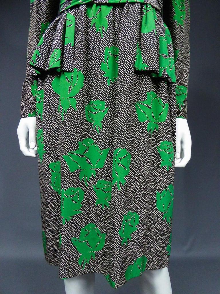 Jeanne Lanvin / Jules-François Grahay Haute Couture Cocktail Dress Circa 1980 For Sale 3