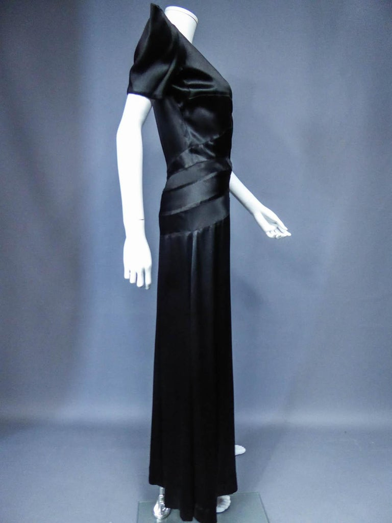 Jeanne Paquin French Couture Evening dress Circa 1935 For Sale 5