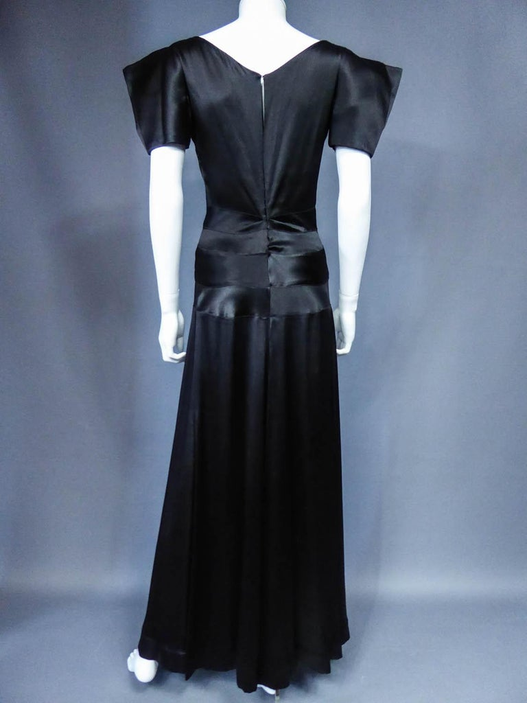 Jeanne Paquin French Couture Evening dress Circa 1935 For Sale 7