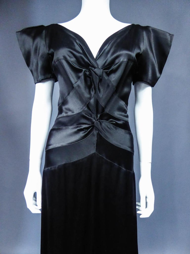 Jeanne Paquin French Couture Evening dress Circa 1935 In Excellent Condition For Sale In Toulon, FR