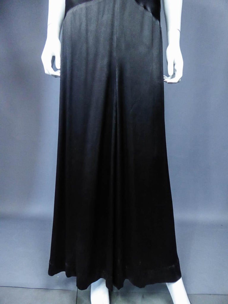 Jeanne Paquin French Couture Evening dress Circa 1935 For Sale 2