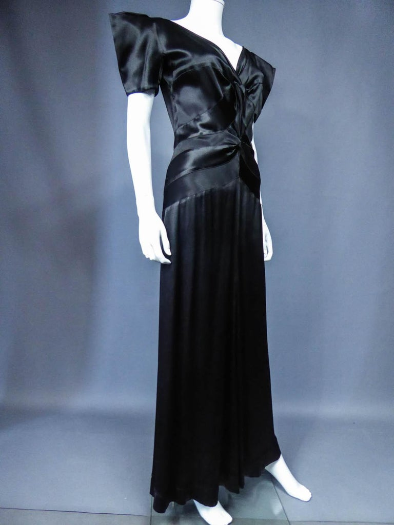 Jeanne Paquin French Couture Evening dress Circa 1935 For Sale 3