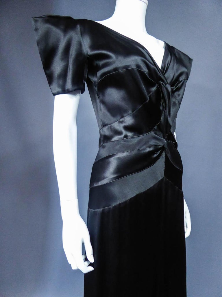 Jeanne Paquin French Couture Evening dress Circa 1935 For Sale 4
