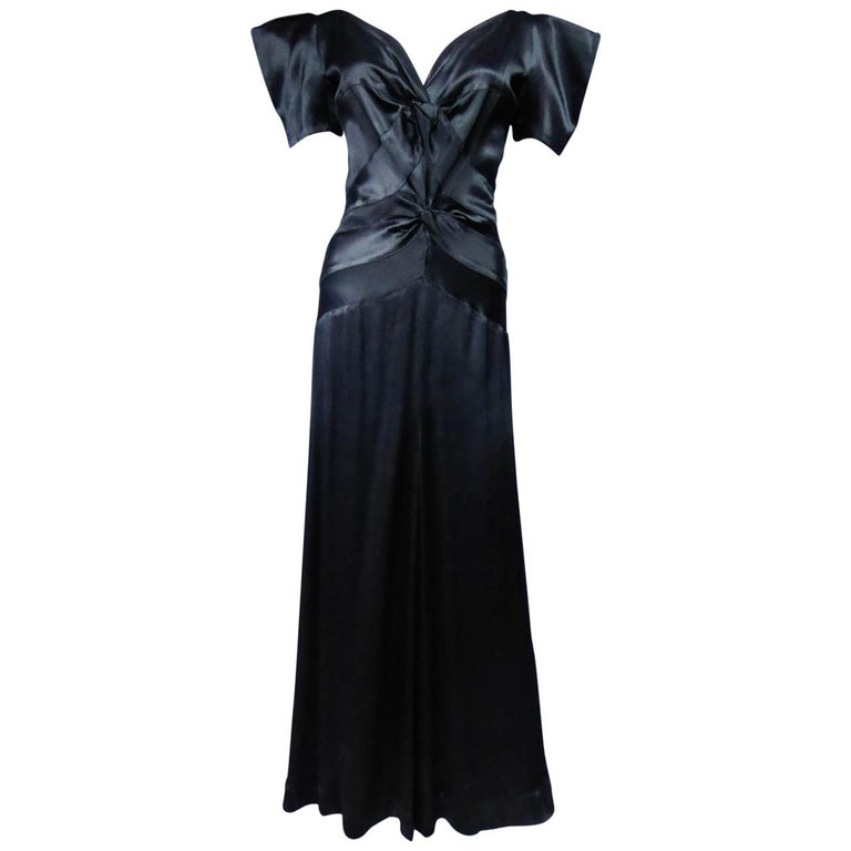 Jeanne Paquin French Couture Evening dress Circa 1935 For Sale