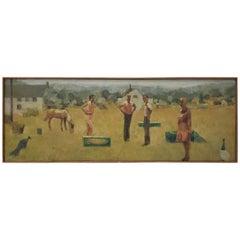 "Jeanne Urich Gorham ""Standing Figures"" Original Oil Painting"