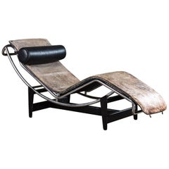 Jeanneret and Le Corbusier LC4 Chaise Lounge