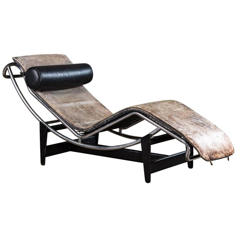 Jeanneret and Le Corbusier LC4 Chaise Lounge For Sale