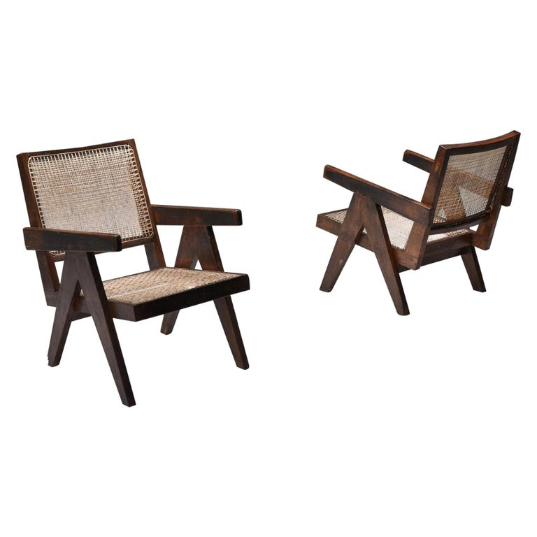 """Jeanneret """"easy chair"""" Chandigarh For Sale"""