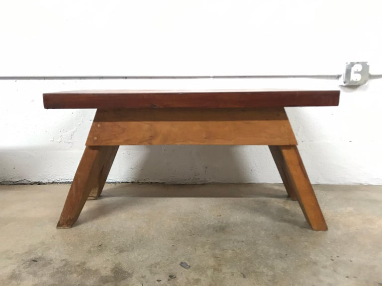 Mid-Century Modern Jeanneret Style Table For Sale