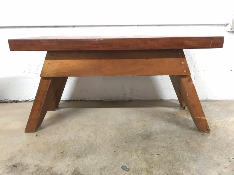 Jeanneret Style Table In Good Condition For Sale In Miami, FL