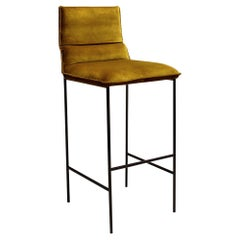 Jeeves - 21st Century Designed by Collector Studio Bar Chair Fabric Mustard