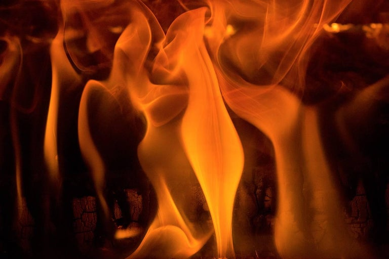 Jeff Becker, Fire Code, 2018, single channel video animation, 30 sec run time - Brown Abstract Photograph by Jeff Becker