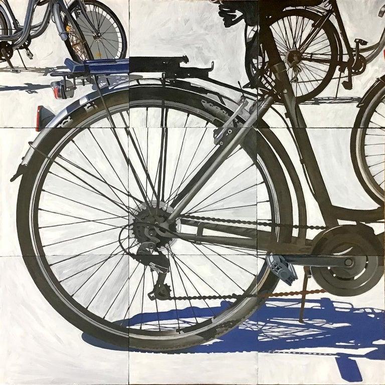 Jeff Cohen Figurative Painting - Barcelona Bikes