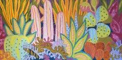 High Desert Garden, Painting, Oil on Canvas