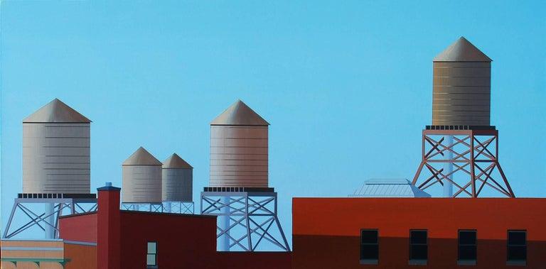 Jeff Goldenberg Landscape Painting - SoHo, Summer Dawn