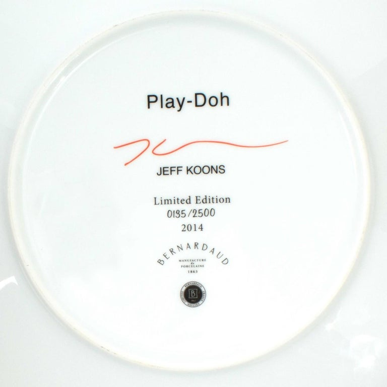 Unknown Jeff Koons Limited Edition Play-Doh Plate for Bernardaud For Sale
