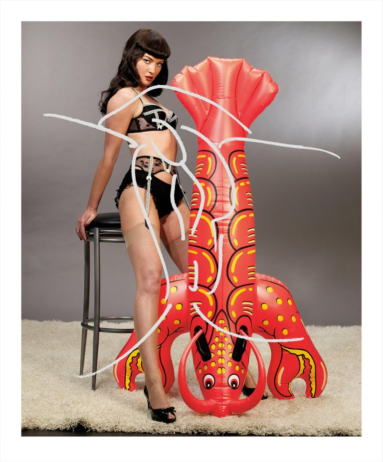 Jeff Koons Figurative Photograph - Girl with Lobster