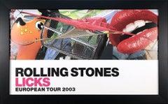 2003 After Jeff Koons 'Rolling Stones Licks European Tour 2003' Pop Art Offset