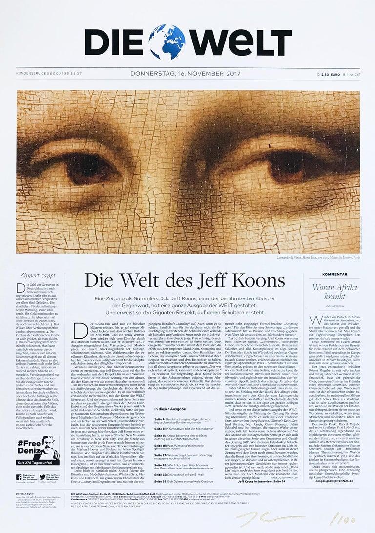 Jeff Koons Figurative Print - Die Welt (Mona Lisa)