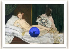 Gazing Ball (Manet Olympia) - Contemporary print by American artist Jeff Koons