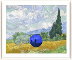 Gazing Ball (van Gogh Wheatfield with Cypresses) Contemporary print, Jeff Koons