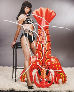 Girl with Lobster -- Digital Pigment Print, Pop Art by Jeff Koons