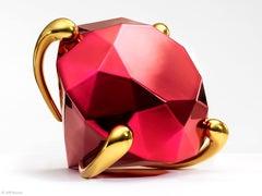 Red Diamond - porcelain limited edition sculpture