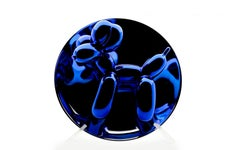 Jeff Koons Authentic Balloon Dog Limited Edition Blue Puppy Incl Dog, box, stand
