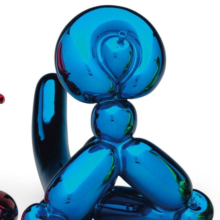 Jeff Koons Balloon Rabbit, Balloon Swan, Balloon Monkey - Matching Set - Beige Figurative Sculpture by Jeff Koons