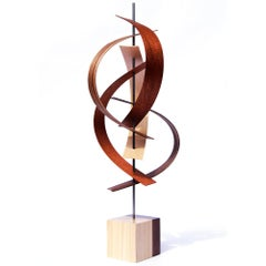 Mid-Century Modern Inspired, Original, Contemporary, Wood Sculpture by Jeff L.