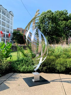 Modern Contemporary Stainless Steel Mid-Century Inspired Metal Art, by Jeff L.