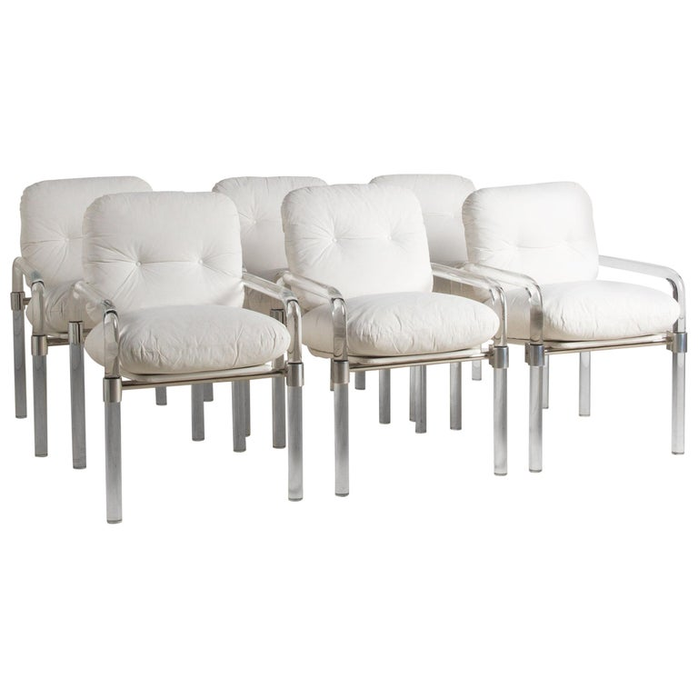 Jeff Messerschmidt Set of 6 Lucite Dining Chairs For Sale