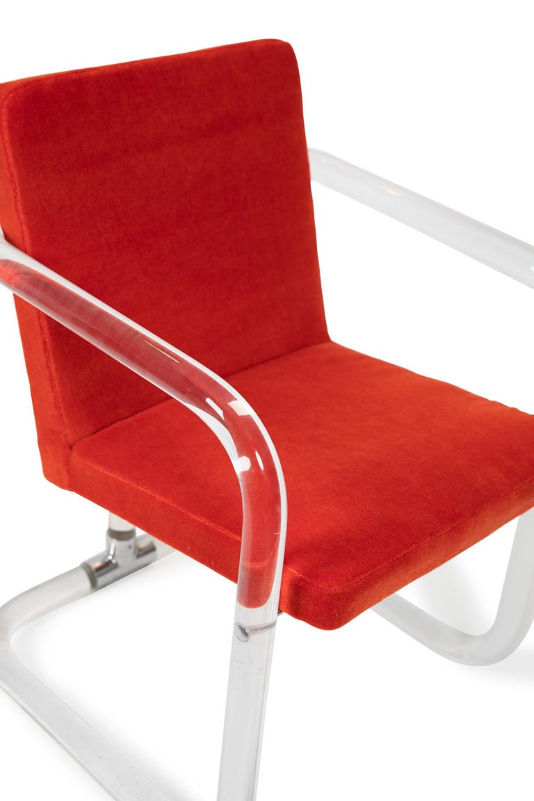 Jeff Messerschmidt Lucite and Mohair Chairs In Good Condition In Phoenix, AZ