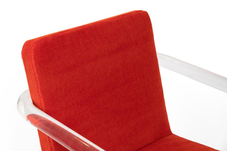 Jeff Messerschmidt Lucite and Mohair Chairs 1
