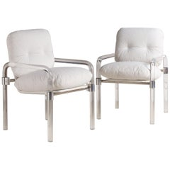 Jeff Messerschmidt Pair of Lucite Dining Chairs