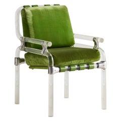 Jeff Messerschmidt Pipeline Chair in Green Fabric