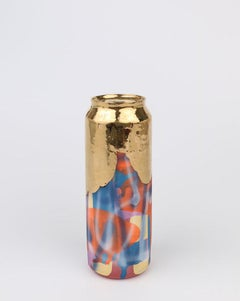 Beer Can 13 (ceramic and gold sculpture)