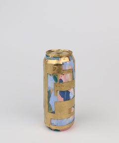 Beer Can 21 (ceramic and gold sculpture)