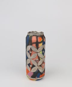 Beer Can 22 (ceramic and silver sculpture)