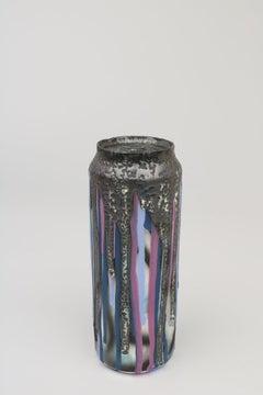 Beer Can 3 (ceramic sculpture)