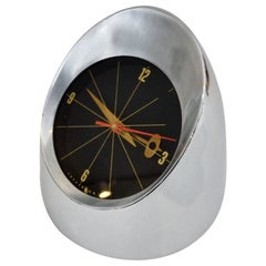 Jefferson 500 Space Age Chrome Rocket Shape Desk Top Clock